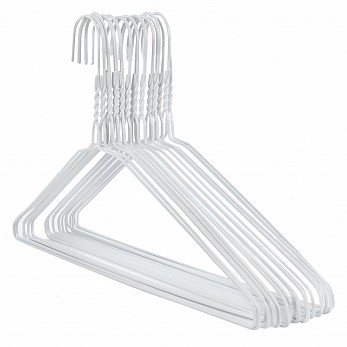 White Galvanised Metal Hangers pack of 500