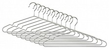 Silver Notched Galvanised Metal Hangers pack of 500