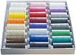 48 Reels / Cones (1,000 Yards) of Multi-Coloured Coats Moon Thread + Needles