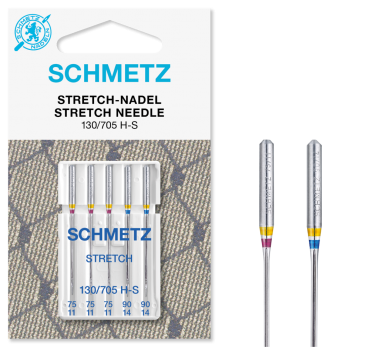 Schmetz Stretch Needles, Assorted Sizes 75/11 & 90/14