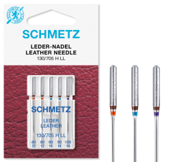 Schmetz Leather Needles, Assorted Sizes 80/12 - 100/16
